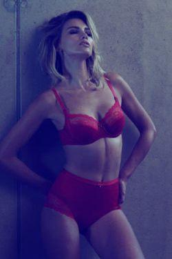 Lisca Evely ist romantik Damen Unterwäsche in schwarz weiß und rot
