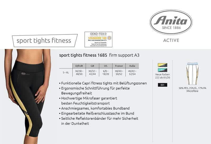 Anita Active Sport Tights Fitness 1685 Firm Support A3
