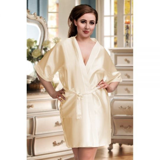 Kimono mit 3/4 Arm und Taschen bis Größe 7 XL champagner