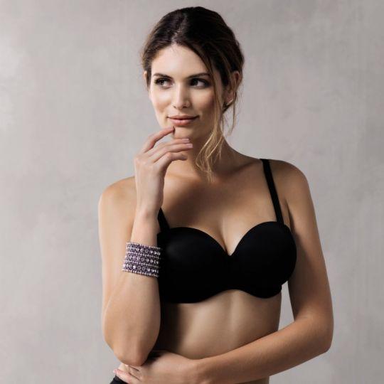 Angebot Anita Twin Schalen BH trägerlos zu tragen Größe 80 G schwarz