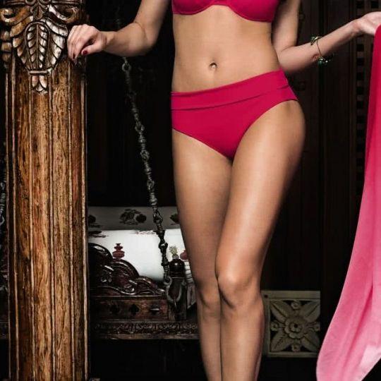 Angebot Anita Bikini Hose mit variablem Bündchen Größe 46 hibiscus rot