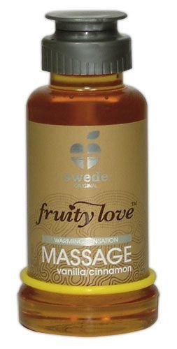 Fruity Love wärmendes Massage Öl mit Vanille Zimt Aroma