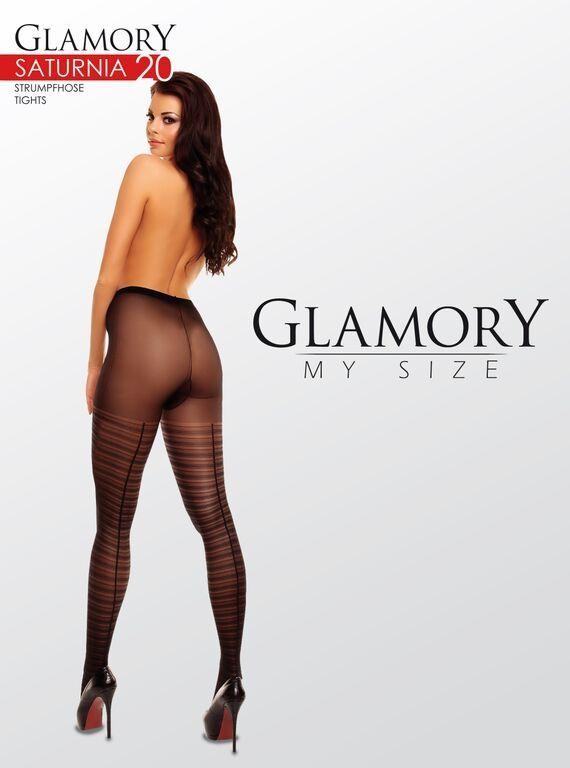 Glamory Feinstrumpfhose mit Ringelmuster bis Größe 58