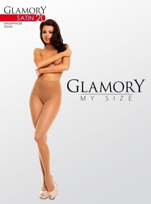 Angebot Glamory Strumpfhose Satin 20 glänzend Größe 56/58 make up