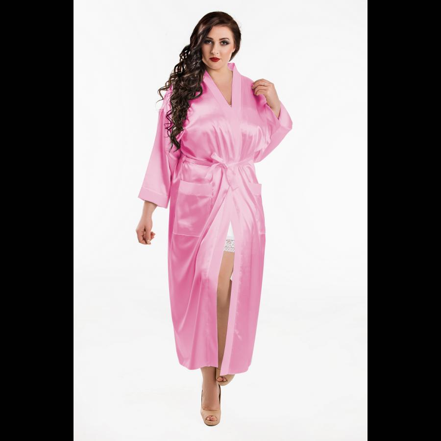 Nine X Satin Kimono lang in 4 Farben bis Größe 7 XL