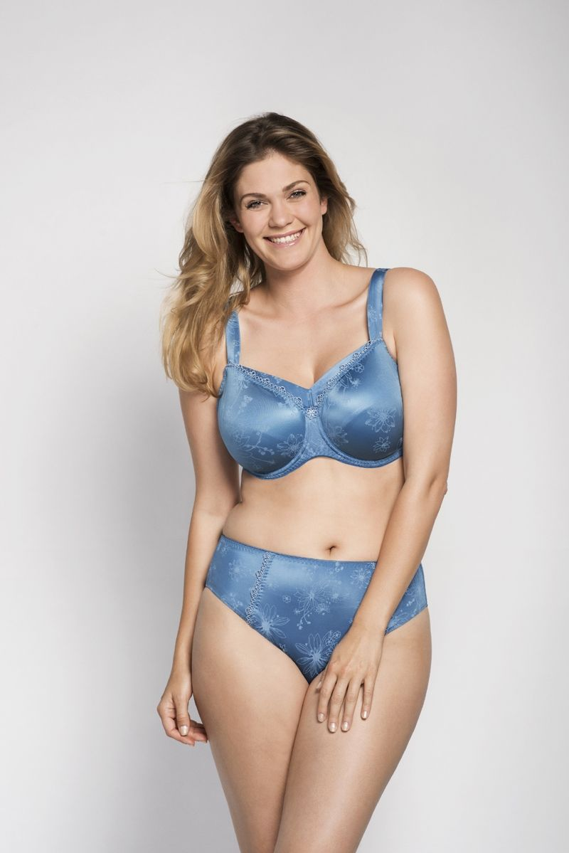 Angebot Ulla Bügel BH Viola Größe 70 L - Sonderfarbe eisblau