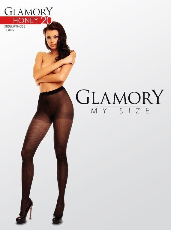 Glamory Feinstrumpfhose mit Rautenmuster bis Größe 58