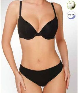 Lisca Form Cup Push up BH Serie Anja mit 95 % Baumwolle A und B Cup