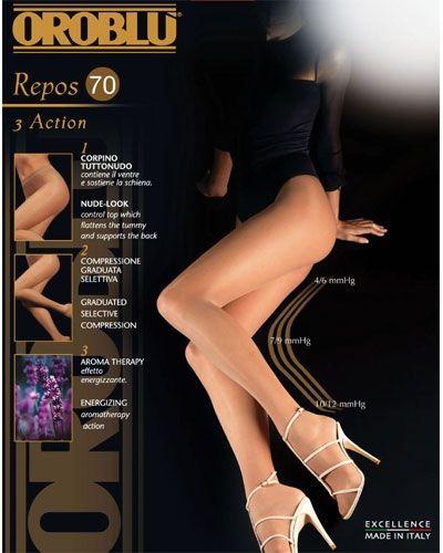 OROBLU Repos 70 Stützstrumpfhose Größe S skin