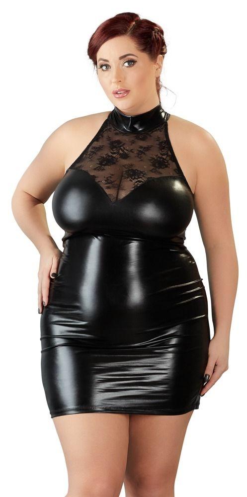 Minikleid mit Stehkragen für große Größen