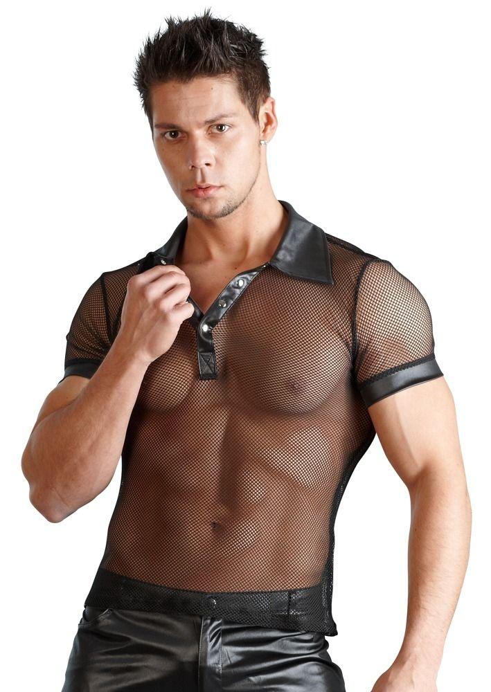 Herren Polo Shirt in Netzoptik bis Größe XXL