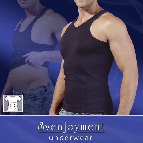 Herren Bauch weg Shirt in schwarz