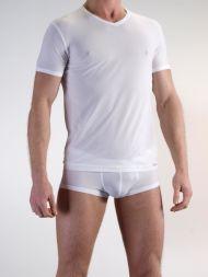 Herren T-Shirt mit V-Ausschnitt Olaf Benz weiß