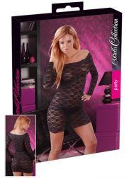 Carmenkleid aus Spitze in schwarz bis Größe XL