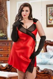 Asymetrisches Babydoll rot