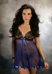 Nine X Babydoll transparent bis Größe 5 XL in blau