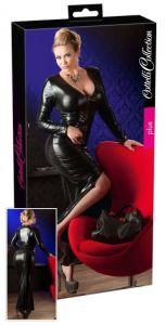 Wetlook Kleid lang und schwarz bis Größe 4 XL