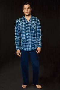 Lisca Herren Schlafanzug in blau bis Größe XXL