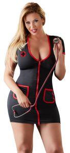 Kostüm schwarze Krankenschwester bis 4 XL