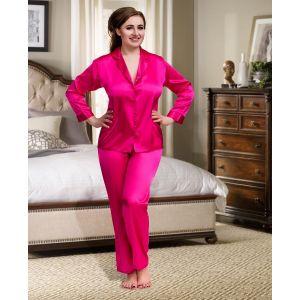 Nine X Satin Pyjama in 3 Farben bis Größe 5 XL