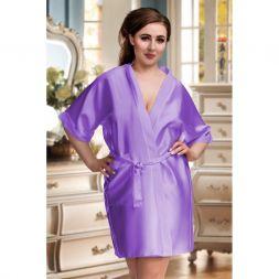 Nine X Kimono mit 3/4 Arm und Taschen bis Größe 7 XL in hell lila