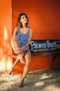 Angebot Anita Badeanzug Marle mit blauen Mohnblumen Größe  40 H