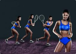 Anita Sport BH High Level Größe 75 H royalblau