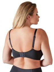 Büstenhebe schwarz Rücken