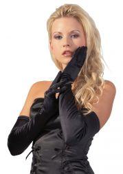 Satinhandschuhe schwarz
