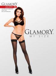 Glamory halterlose Strümpfe mit Punkten Größe 40-62