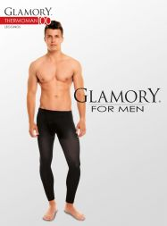 Glamory Herren Leggings Thermo Eingriff im 3 er Pack