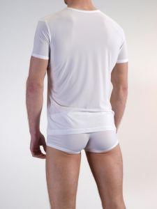 Herren T-Shirt mit V-Ausschnitt Olaf Benz weiß Rückseite