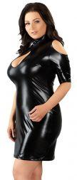 Auf dem Bild wird ein Kleid in der Farbe schwarz und der Größe XL von der Marke Cottelli gezeigt.