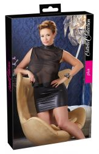Minikleid schwarz und transparent