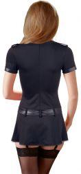 Cottelli Sexy Polizeikleid mit Frontreissverschluss bis XL