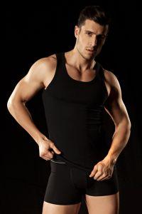 Herren Unterhemd schwarz
