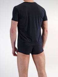Herren T-Shirt mit V-Ausschnitt Olaf Benz schwarz Rückseite