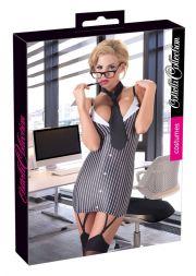 Sexy Sekretärin im Strapskleid