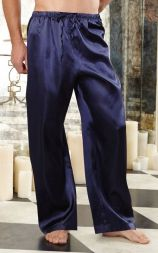 Dreamgirl Herren Schlafhose aus Satin in midnight blue bis XXL