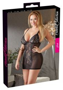 Cottelli Neglige Kleid mit Spitze und Transparenz bis 4 XL