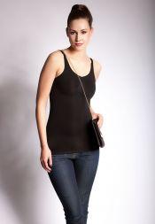 Shapewear Hemd schwarz und lang