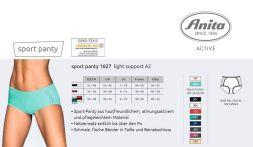 Anita Sport Panty Active Wear in diversen Farben Größe 36-48