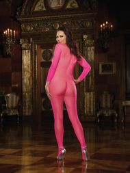 Catsuit ouvert Langarm pink
