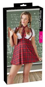 Schulmädchen Kostüm rot