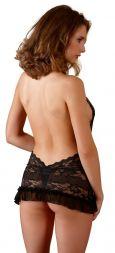Cottelli Negligee aus Spitze rückenfrei schwarz bis Größe XL